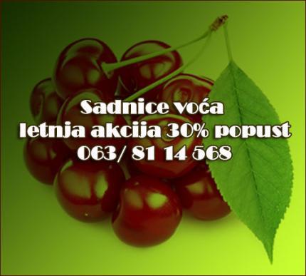 30% Popust - Sadnice voća AKCIJA