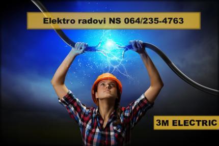 Sve vrste elektro radova Novi Sad