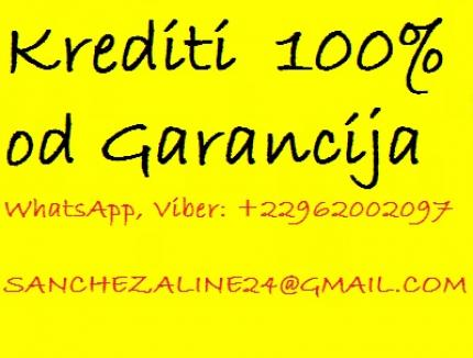 Krediti 100 % od garanciju 2.000 eura ima 50.000.0