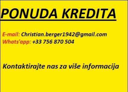 Ponuda kredit novac 100 % od garanciju