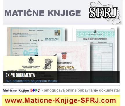 Matične knjige SFRJ kvalitetno